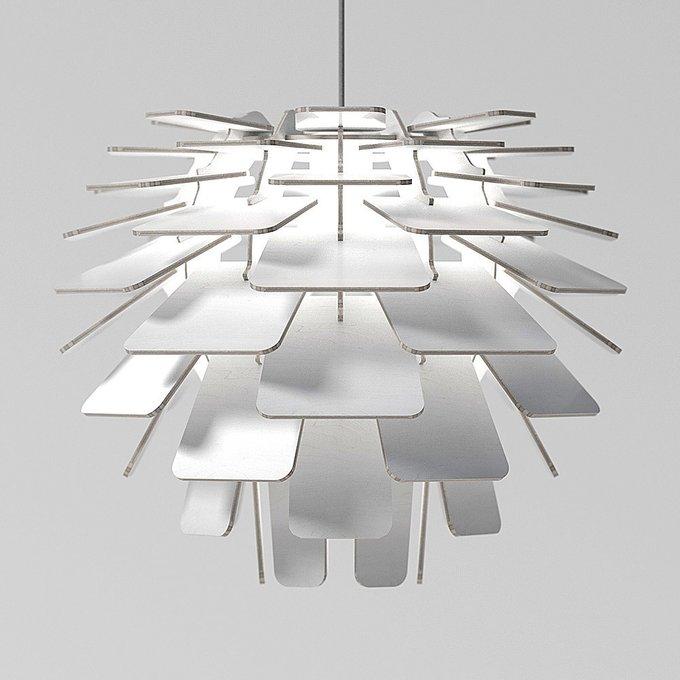 Подвесной светильник Squama Artichoke белый