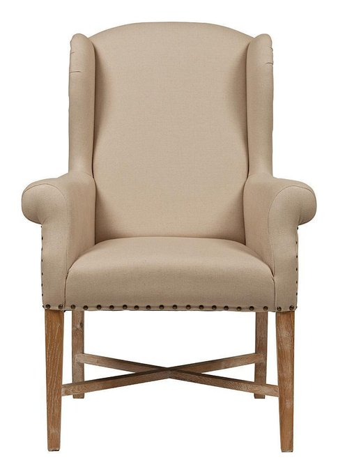 "Кресло ""French Wing"" Chair Кремовый Лен"
