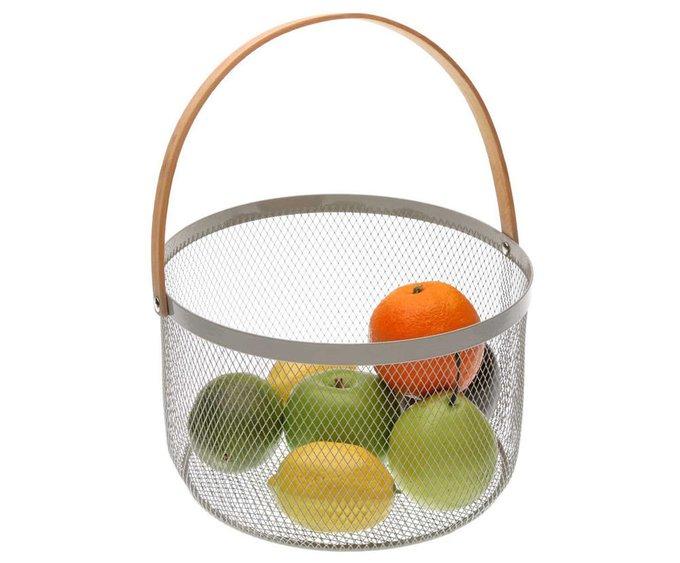 Корзинка для фруктов серого цвета