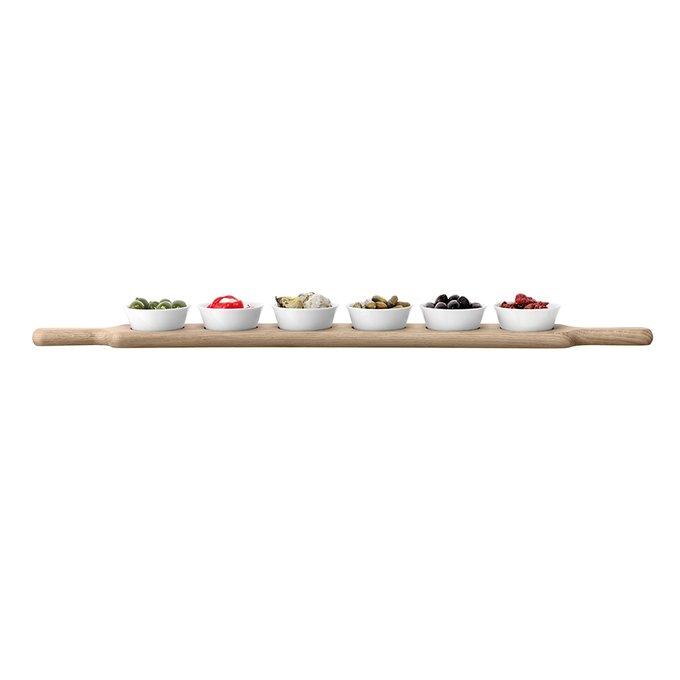 Набор из 6 чаш на подставке LSA paddle