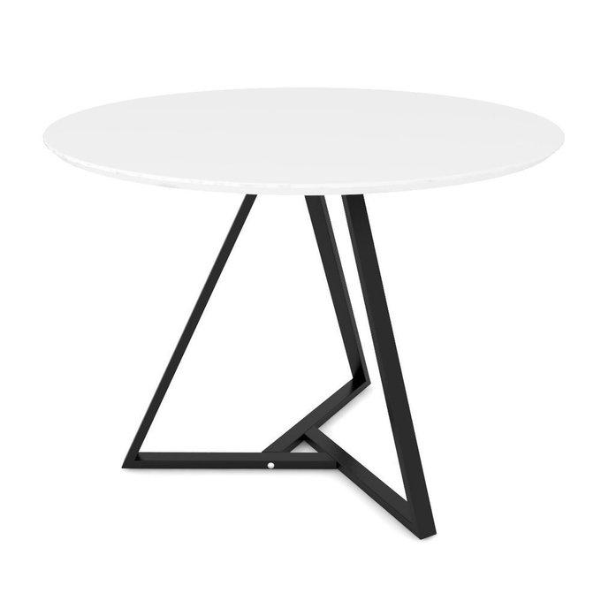 Обеденный стол Voca Triad на основании из черного металла