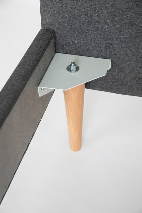 Кровать Grey серого цвета без изголовья 140х200
