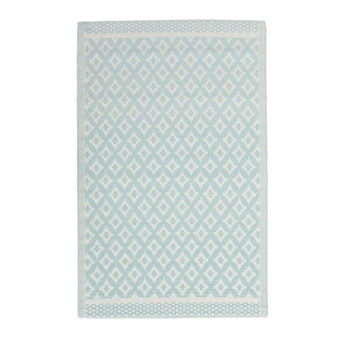 Ковер бело-голубого цвета 120х180
