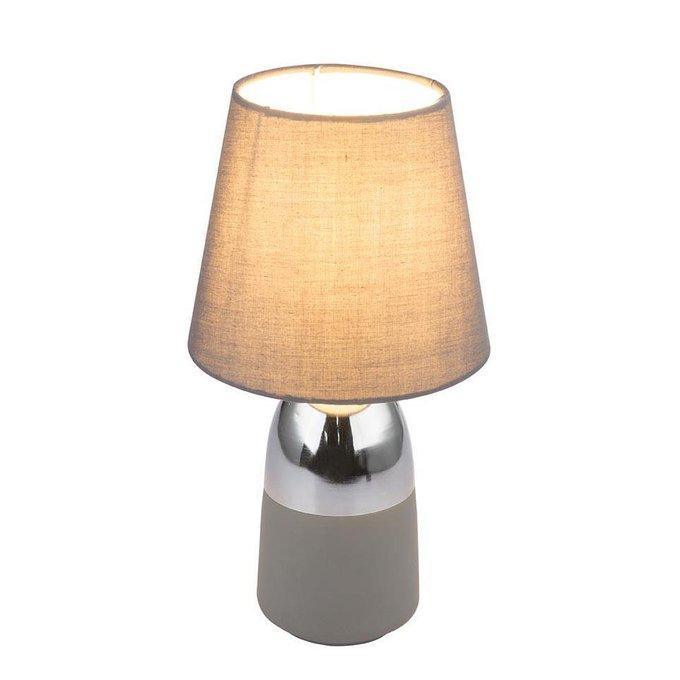 Настольная лампа Eugen с абажуром серого цвета