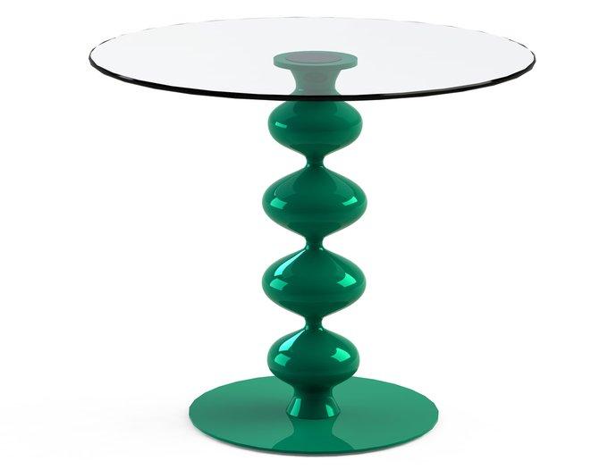 """Стол обеденный """"CRIADOR Green"""" со столешницей из закаленного стекла"""