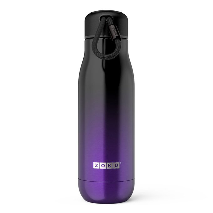 Термос Purple Ombre фиолетово-черного цвета