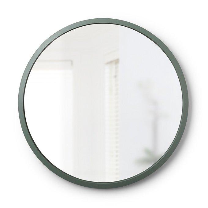 Зеркало настенное Umbrа hub светло-зелёное