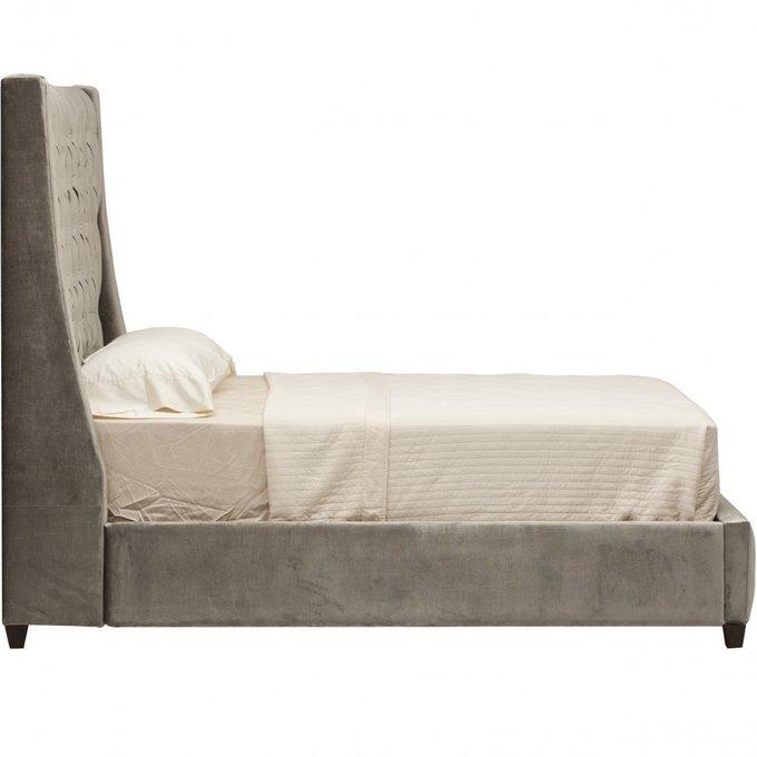 Кровать Emerald Tower серого цвета 160х200