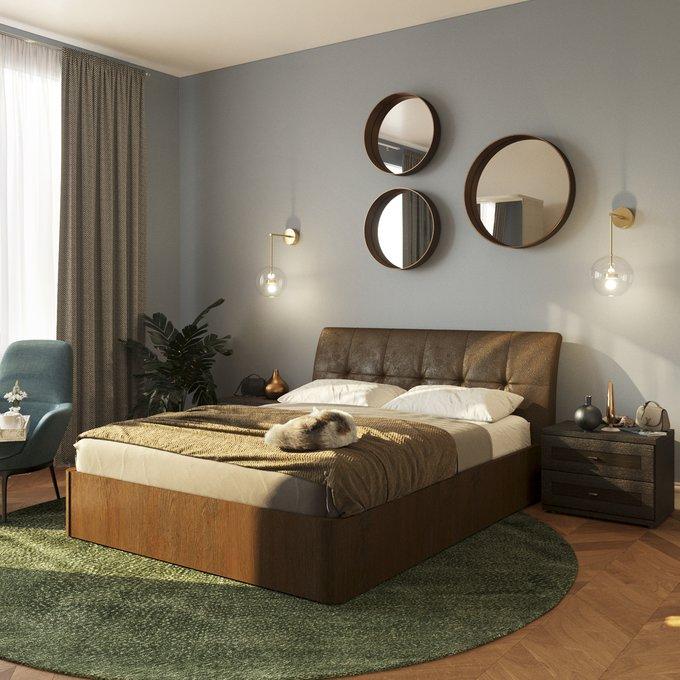 Кровать Сиена 160х200 коричневого цвета с подъемным механизмом