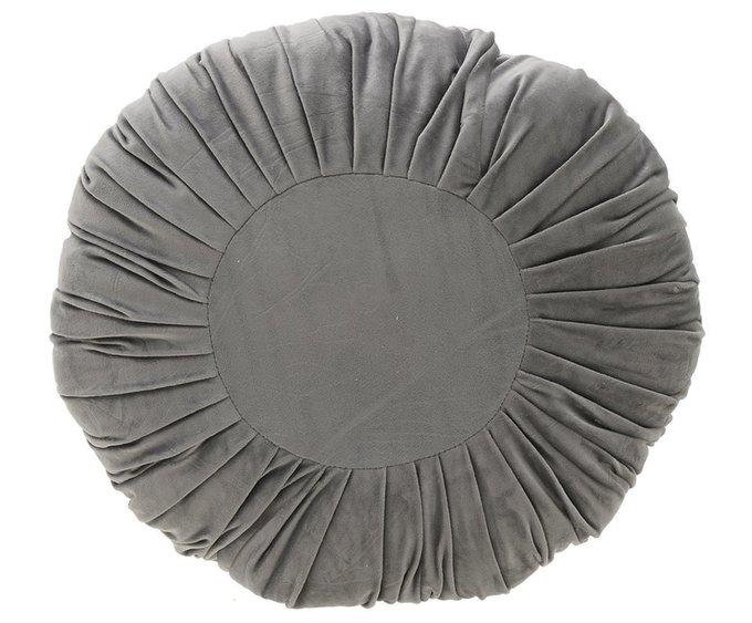 Подушка круглая серого цвета