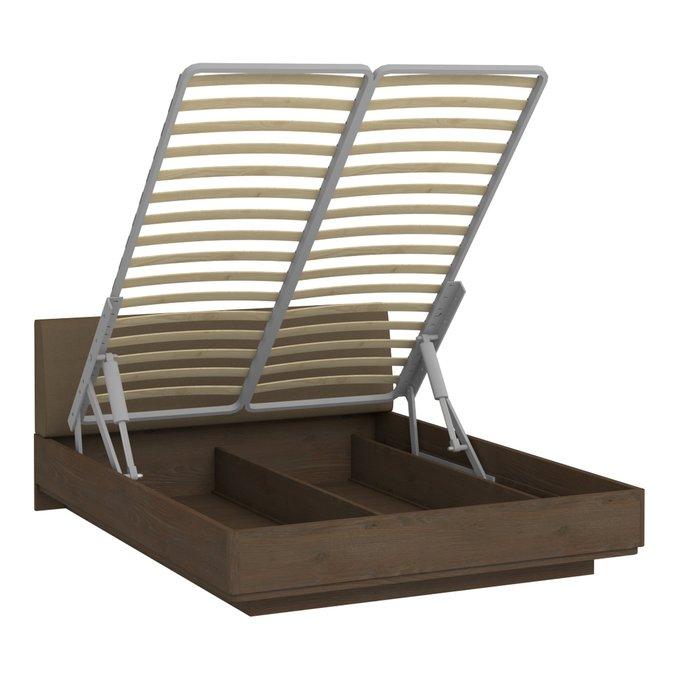 Кровать Сиена 140х200 коричневого цвета с подъемным механизмом