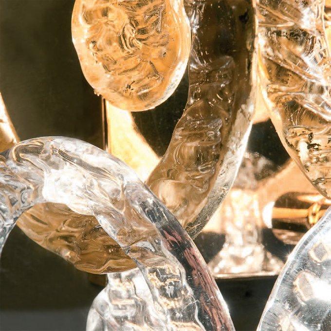 Настольная лампа Jago с кольцами из прозрачного муранского стекла