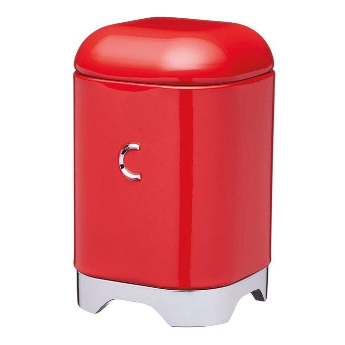 Ёмкость для хранения кофе Lovello Retro red