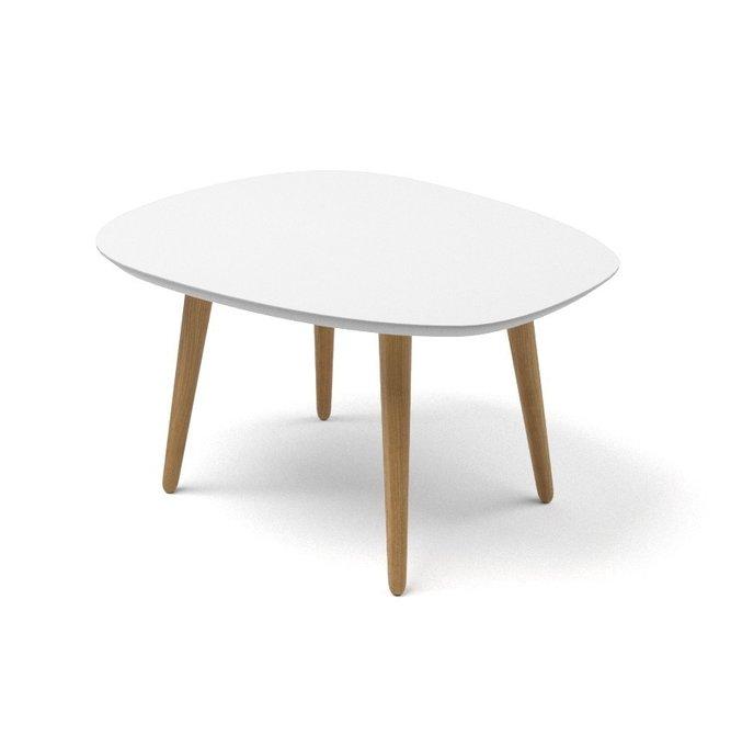 Журнальный стол River Round белого цвета