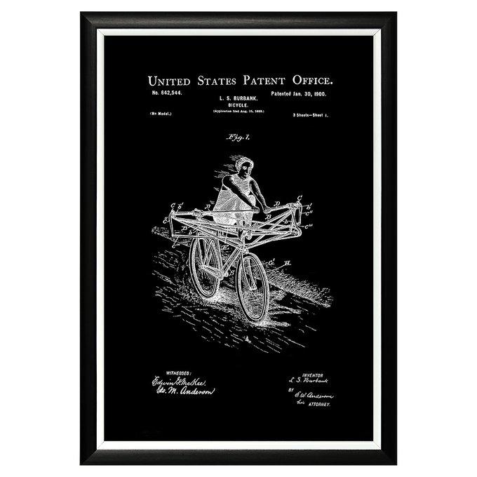 Арт-постер Патент на велосипед 1900