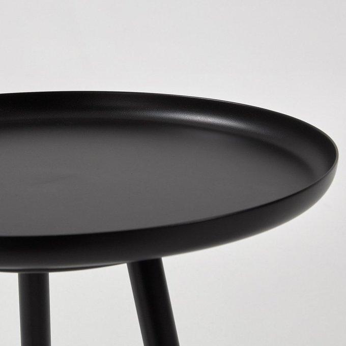 Журнальный стол Kyler из металла черного цвета