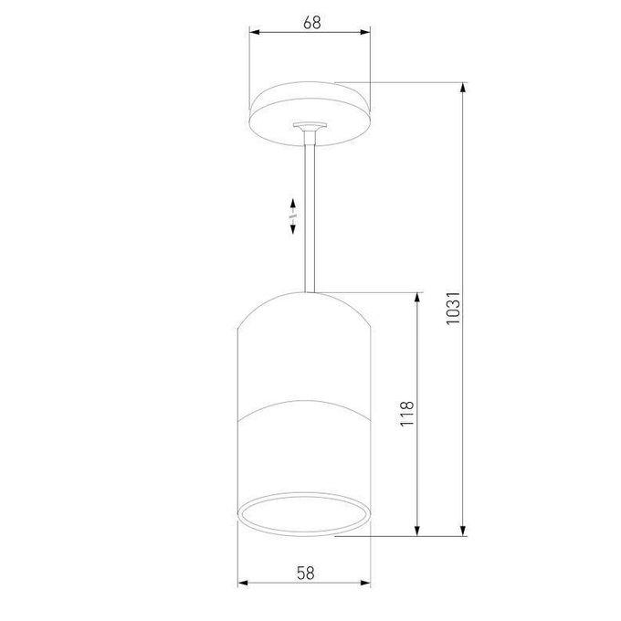 Подвесной светильник Mini Topper из металла