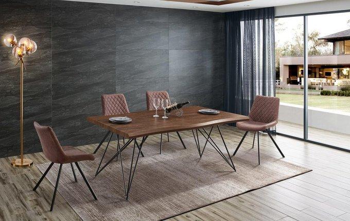 Обеденный стол со столешницей цвета орех