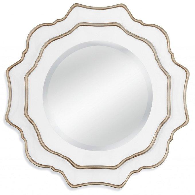 Настенное зеркало Gardenia в раме серебряного цвета