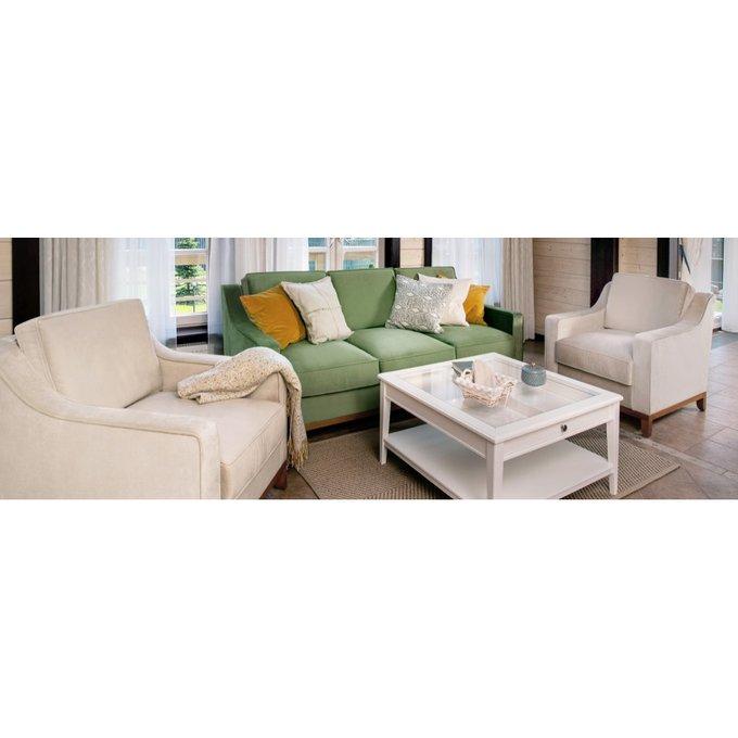 Прямой диван Франциско S бежевого цвета