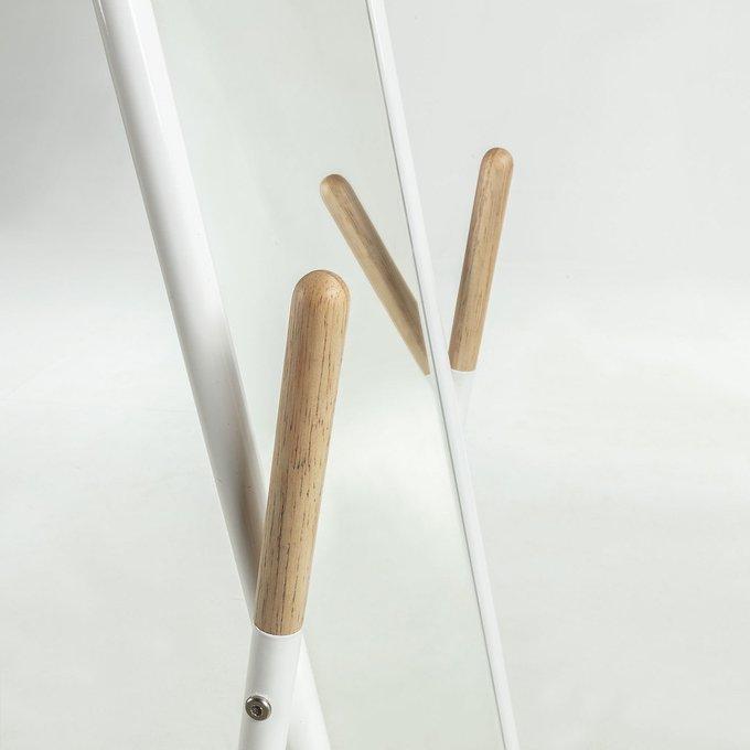 Напольное зеркало Bellamy металлическое белого цвета