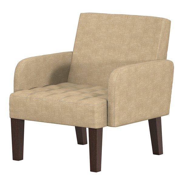 Мягкое кресло Квадро бежевого цвета