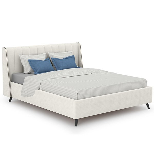 Кровать Мелисса 160х200 с подъёмным механизмом и дном светло-бежевого цвета