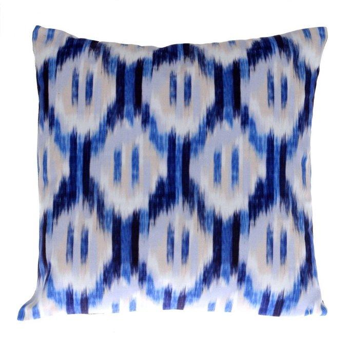 Декоративная Подушка сине-белая