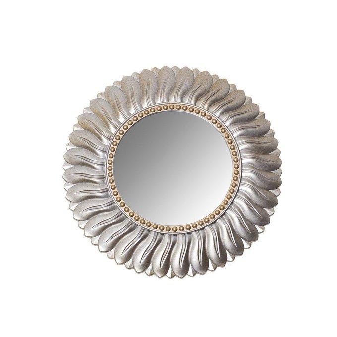 Круглое настенное зеркало с рамой из пластика