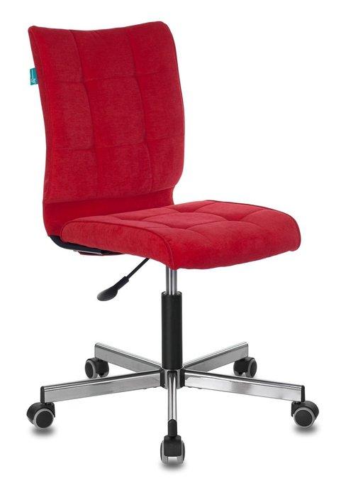 Кресло компьютерное Бюрократ красного цвета