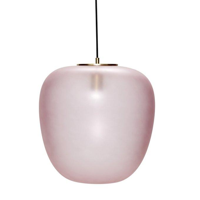 Подвесной светильник с розовым плафоном