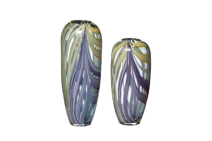 Ваза стеклянная фиолетовая