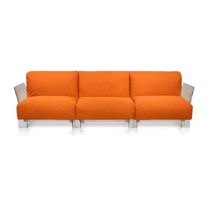 Диван Pop трехместный оранжевого цвета