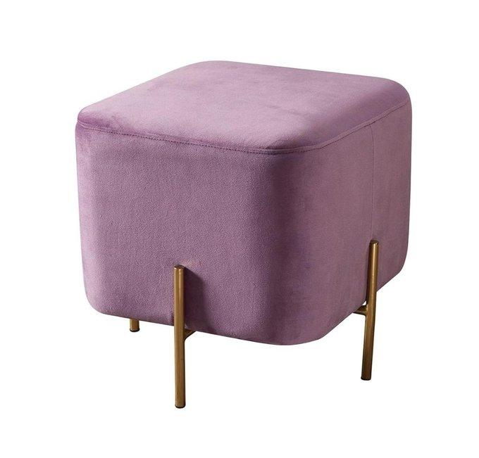 Пуф розового цвета на металлических ножках