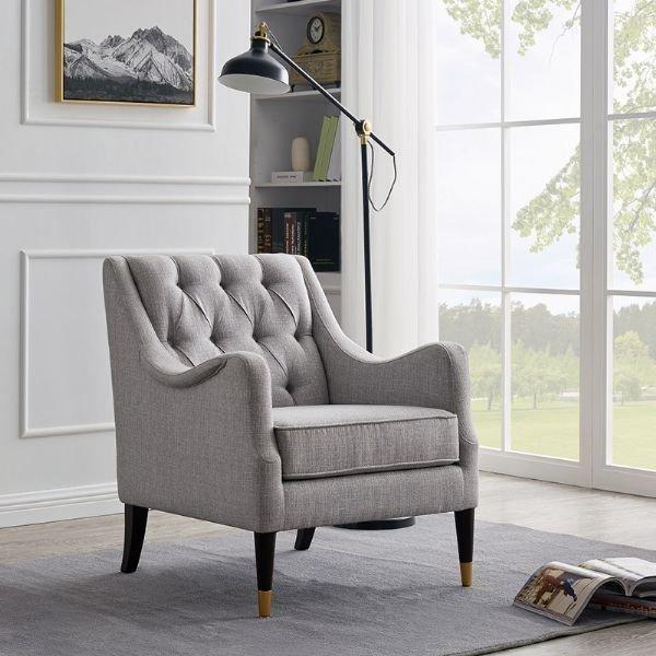 Кресло New-York светло-серого цвета