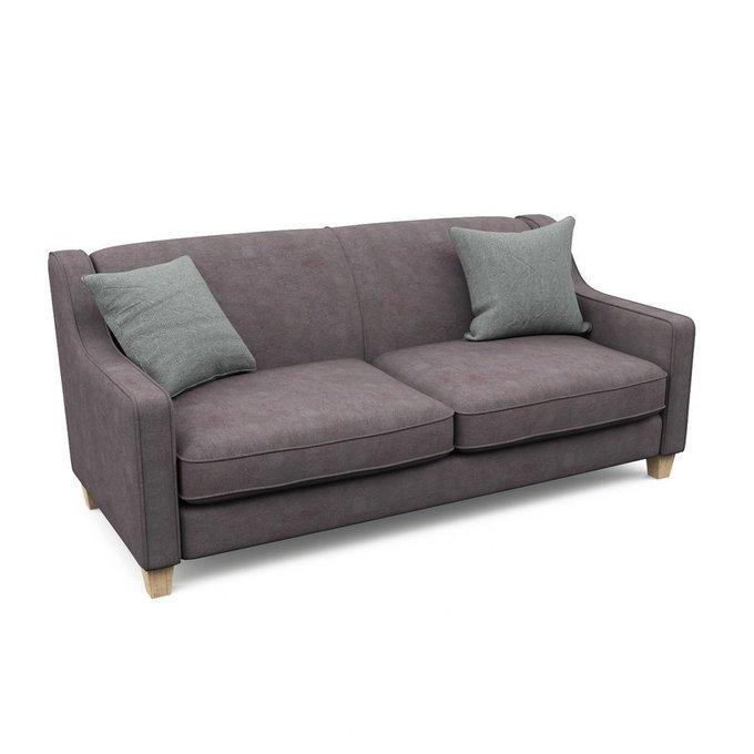 Трехместный диван-кровать Агата XL коричневого цвета