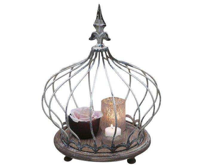 Корона для декора серого цвета