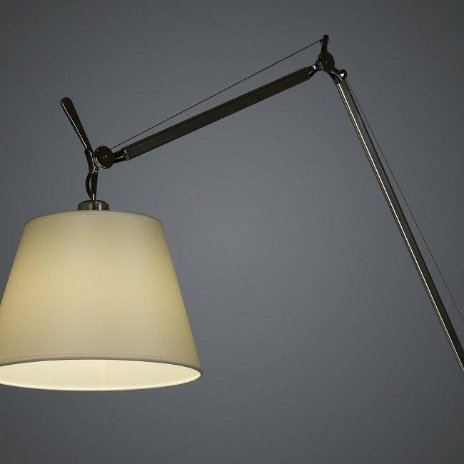 Напольный светильник Tolomeo с белым абажуром