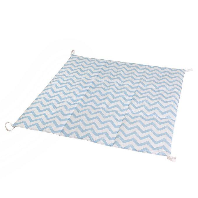 Стеганый игровой коврик Blue Zigzag