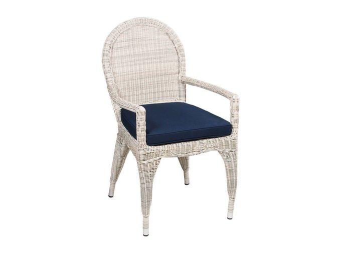 Кресло Haga из белого искусственного ротанга