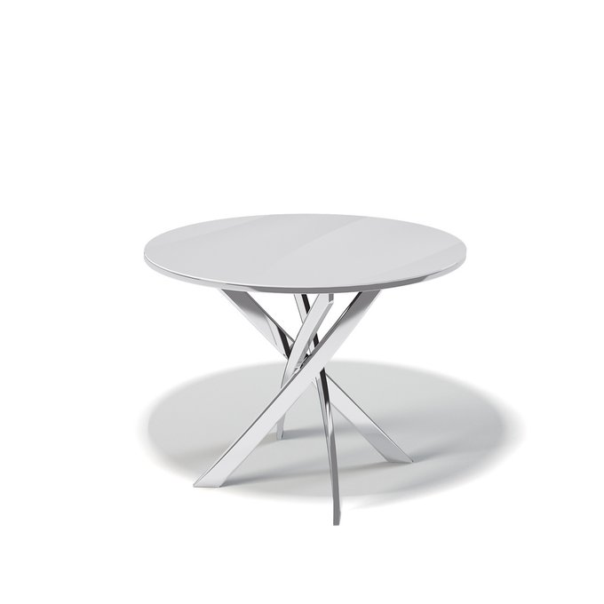 Стол обеденный Aves цвета белый глянец