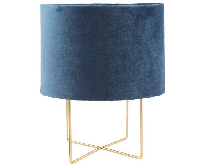 Настольная лампа синего цвета