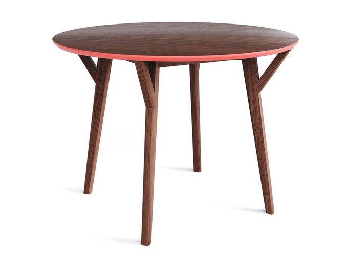 Обеденный стол Circle дуб тобакко / коралловый