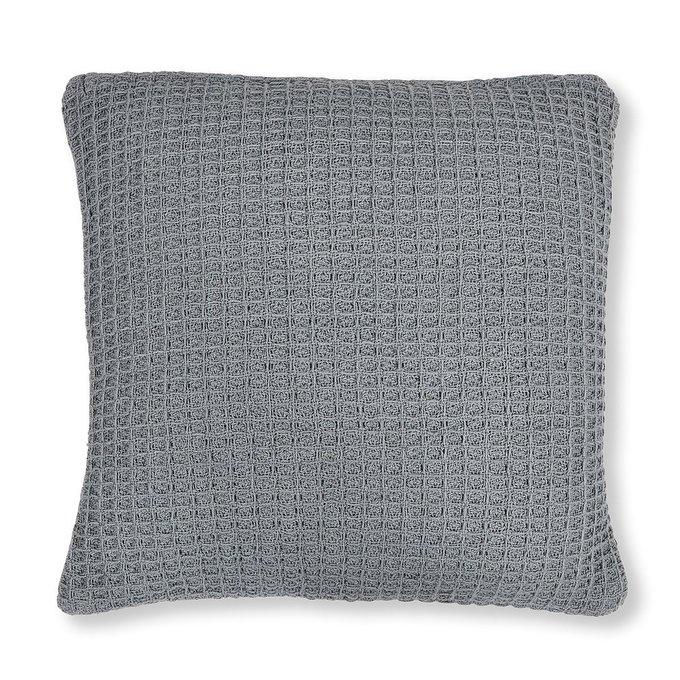 Чехол на подушку серого цвета