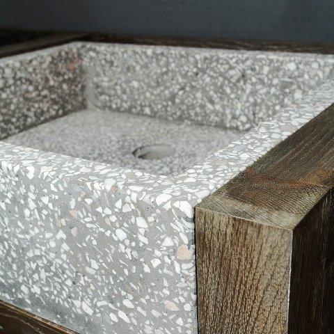 Тумба для ванной Морна из массива дуба
