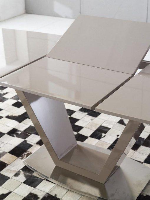 Раздвижной стол-трансформер темно-бежевого цвета