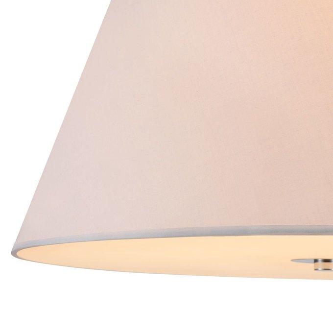 Подвесная люстра Bergamo с белым абажуром