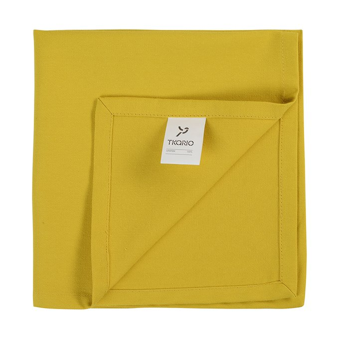 Салфетка сервировочная Wild горчичного цвета 45х45