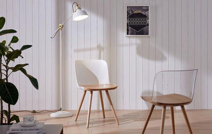 Обеденный стул с элементами из бука