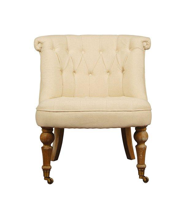 Мягкое бежевое кресло (модерн)